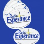 Lot de 12 autocollants Radio Esprance